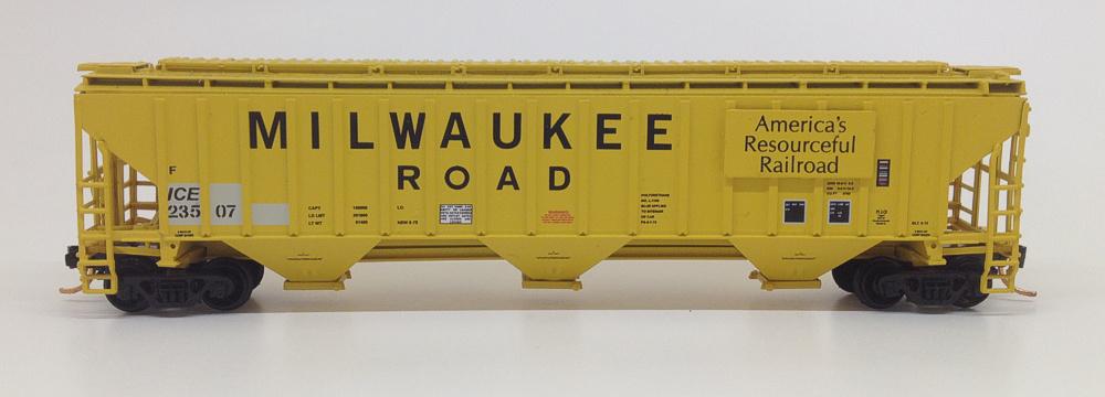 N Scale - Prairie Shadows - PS160147 - Covered Hopper, 3-Bay, Thrall 4750 - Milwaukee Road - 23573