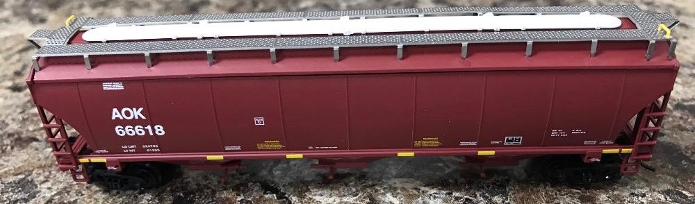 N Scale - InterMountain - PSAOK4 - Covered Hopper, 3-Bay, Trinity 5161 - Arkansas-Oklahoma - 66524