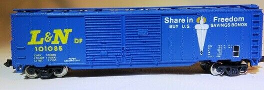 N Scale - Con-Cor - 0001-148103 - Boxcar, 50 Foot, Steel, Double Door - Louisville & Nashville - 101085