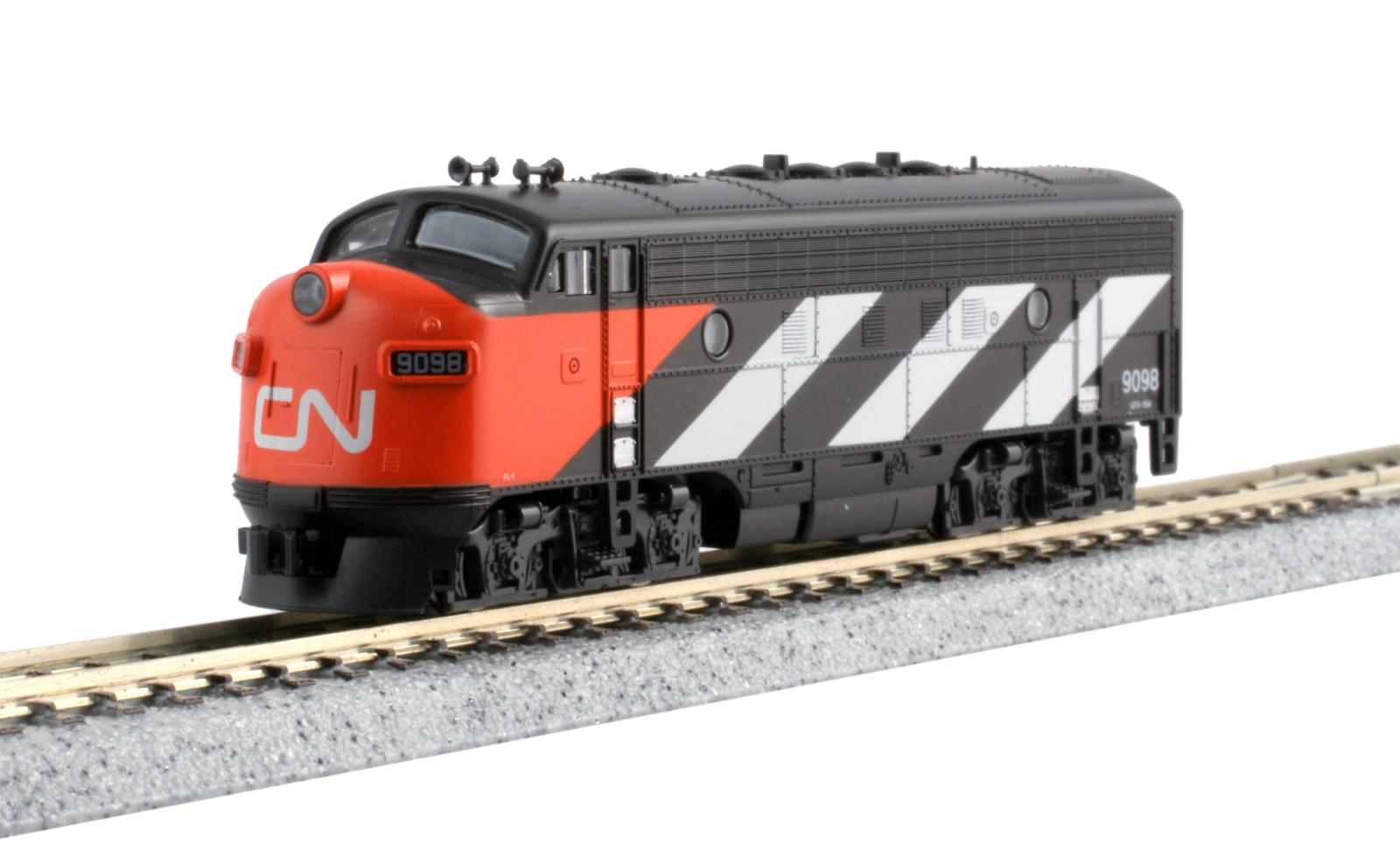 N Scale - Kato USA - 176-2135-DCC - Locomotive, Diesel, EMD F7 - Canadian National - 9098