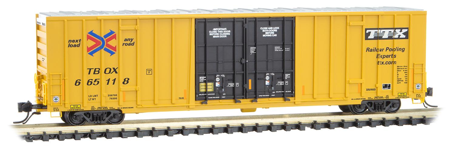 N Scale - Micro-Trains - 123 51 010 - Boxcar, 60 Foot, NSC Excess Height - RailBox - 665118