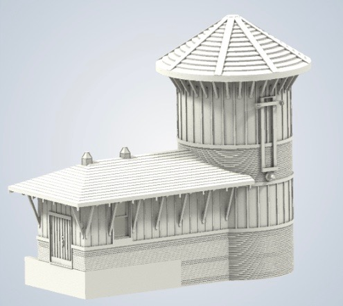N Scale - B&T Model - Palestine Depot – Water Station - Structures. American Old West - Railroad Structures - Palestine Depot – Water Station