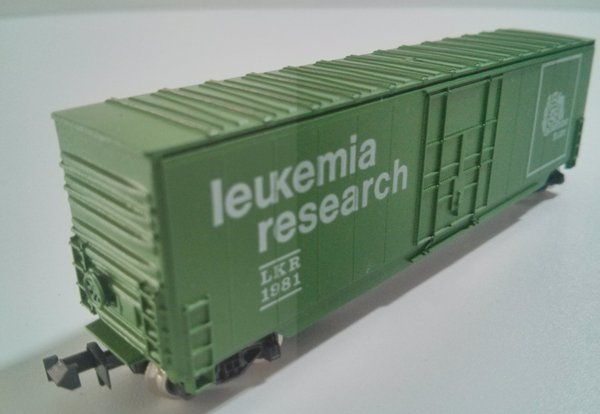 N Scale - Roundhouse - Promo - Boxcar, 50 Foot, PS-1 - Leukemia Research Foundation - 1981