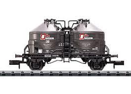 N Scale - Minitrix - 15269 - Tank Car, Cement Silo, 2-Axle - Deutsche Bahn - 910 5 079-7