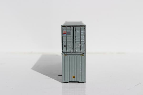 N Scale - Jacksonville Terminal - 405028 - Container, 40 Foot, Hi-Cube - Transamerica Transportation - 2-Pack