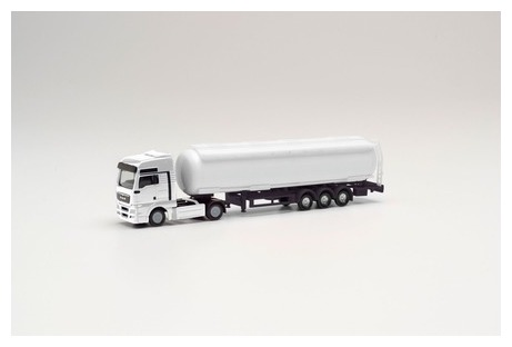 N Scale - Herpa - 013819 - Semi Tractor Trailer - Undecorated