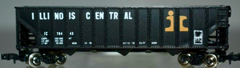 N Scale - Con-Cor - 0001-883701 - Open Hopper, 3-Bay, 100 Ton Greenvile - Illinois Central - 78443