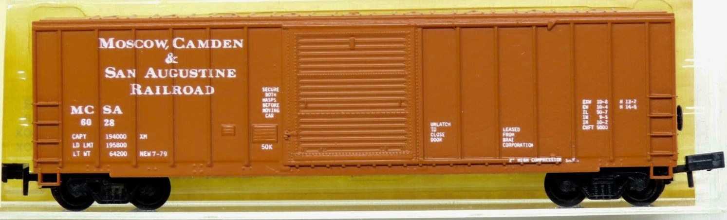 N Scale - N Hobby Distributing - 15 - Boxcar, 50 Foot, FMC, 5347 - Moscow Camden & San Augustine - 6028