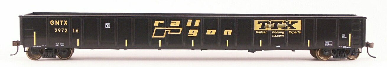 N Scale - LBF Company - 5369 - Gondola, 65 Foot, Mill - RailGon  - 12 Different Available