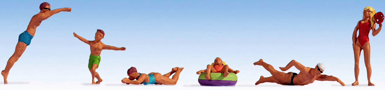 N Scale - Noch - 36849 - People at beach or poolside - People