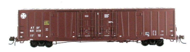 N Scale - BLMA - 18015 - Boxcar, 62 Foot, BX-166 - Santa Fe - 621319