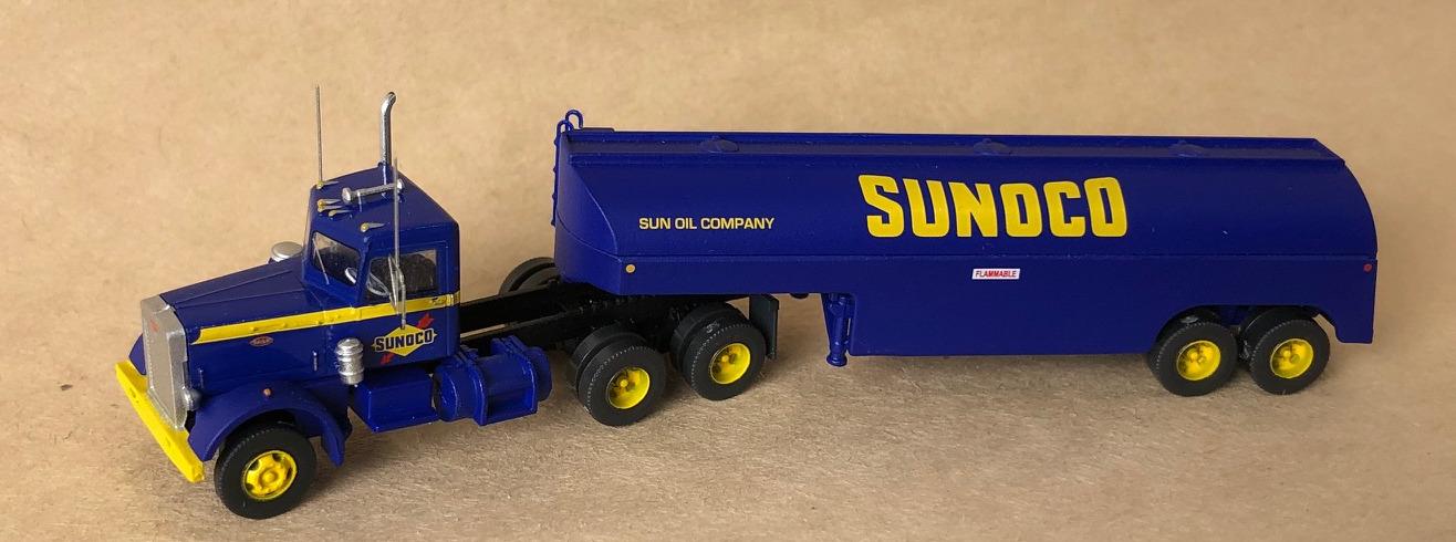 N Scale - Trainworx - 55124 - Truck, Peterbilt 281/351 - Sunoco