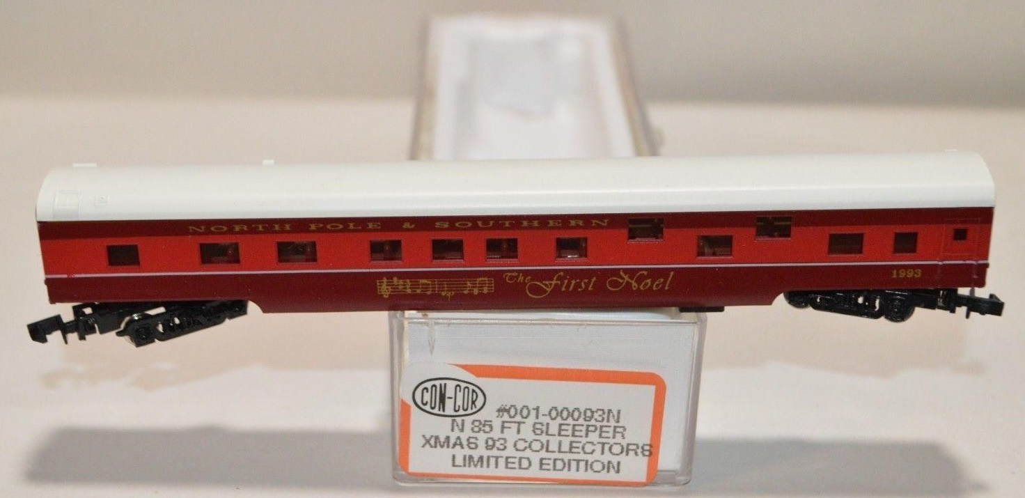 N Scale - Con-Cor - 0001-00093N - Passenger Car, Lightweight, Smoothside - Merry Christmas - 1993