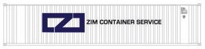 N Scale - Deluxe Innovations - 5131 - Container, 40 Foot, Corrugated, Dry - Zim - 2-Pack