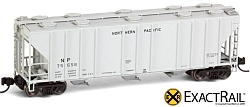 N Scale - ExactRail - EN-50613-1 - Covered Hopper, 3-Bay, PS-2CD 4000 - Northern Pacific - 75658