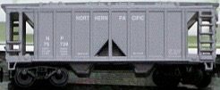 N Scale - Loco-Motives - 12153-02 - Covered Hopper, 2-Bay, ACF 36 Foot - Northern Pacific - 75739
