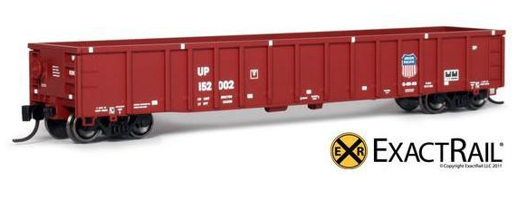 N Scale - ExactRail - EN-51701-6 - Gondola, 52 Foot, Thrall 2743 - Union Pacific - 152075