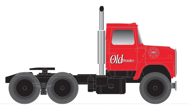 N Scale - Atlas - 60 000 143 - Truck, Ford L-Series - Old Milwaukee Beer