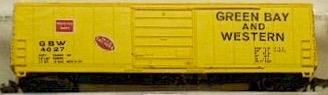 N Scale - Bev-Bel - 4475-1 - Boxcar, 50 Foot, Evans 5277 - Green Bay & Western - 4027