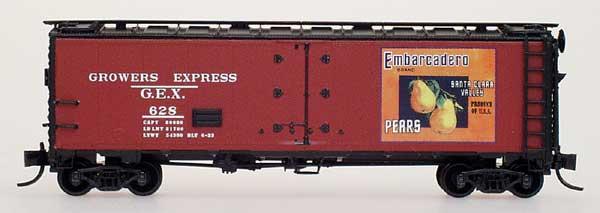 N Scale - YesterYear Models - Y6205-01 - Reefer, 40 Foot, R-40-23 - Growers Express - 628