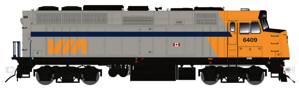 N Scale - Rapido Trains - 580502 - F40PH-2D - Via Rail Canada - 6416