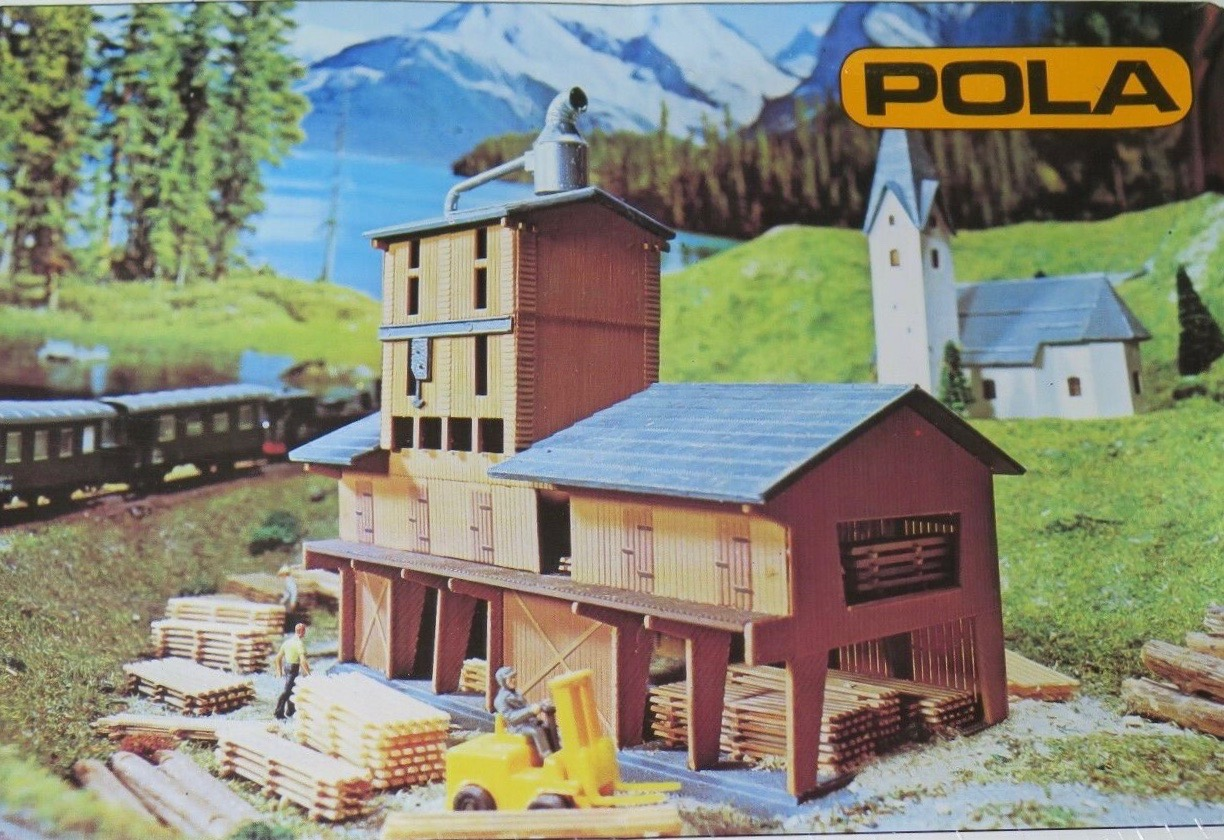 N Scale - Pola - 241 - Saw Mill - Industrial Structures - Saw Mill