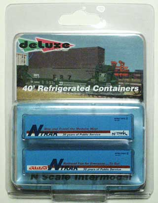 N Scale - Deluxe Innovations - Special Run  N-TRAK 30th Anniversary - Container, 48 Foot - NTRAK - 2-Pack