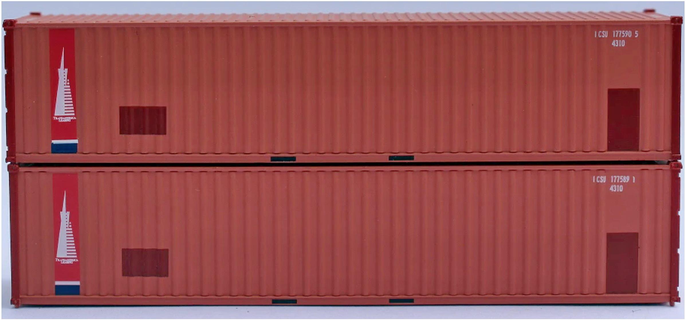 N Scale - Jacksonville Terminal - 405510 - Corrugated Side Panel - Transamerica Transportation - 2-Pack