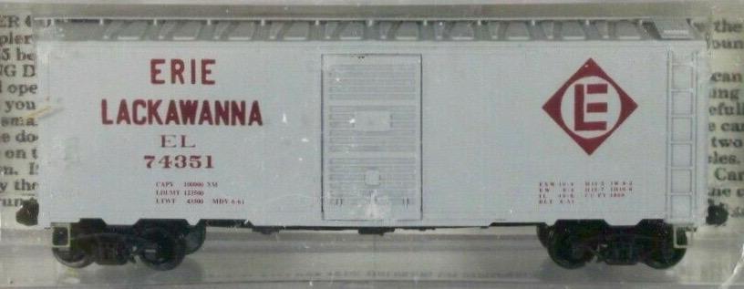 N Scale - Deluxe Innovations - 141202 - Boxcar, 40 Foot, AAR 1944 - Erie Lackawanna - 74351