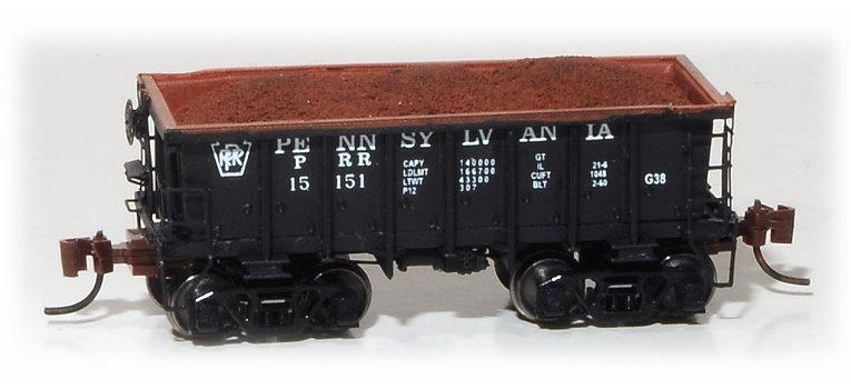 N Scale - Eastern Seaboard Models - 530402 - Open-Hopper, G38 Ore Jenny - Pennsylvania - 15151