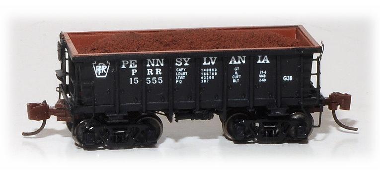 N Scale - Eastern Seaboard Models - 530404 - Open-Hopper, G38 Ore Jenny - Pennsylvania - 15555