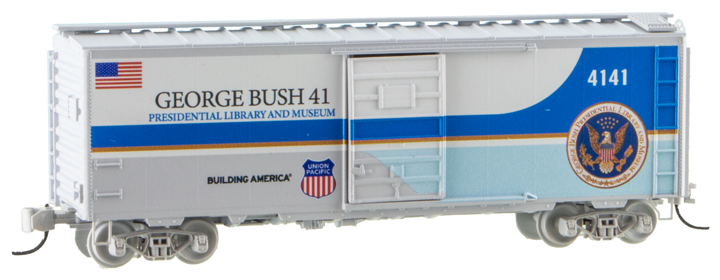 N Scale - N Scale Enthusiast - 020 91 290 - Boxcar, 40 Foot, PS-1 - Union Pacific - 4141