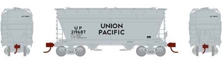 N Scale - Athearn - 23458 - Covered Hopper, 2-Bay, ACF Centerflow - Union Pacific - 219687