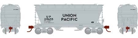 N Scale - Athearn - 23457 - Covered Hopper, 2-Bay, ACF Centerflow - Union Pacific - 219655