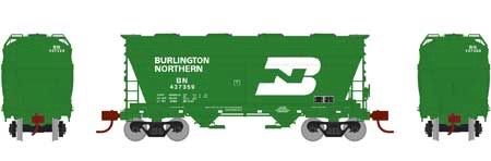 N Scale - Athearn - 23449 - Covered Hopper, 2-Bay, ACF Centerflow - Burlington Northern - 437359