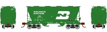 N Scale - Athearn - 23448 - Covered Hopper, 2-Bay, ACF Centerflow - Burlington Northern - 437171