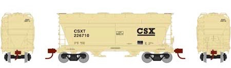 N Scale - Athearn - 23446 - Covered Hopper, 2-Bay, ACF Centerflow - CSX Transportation - 226710