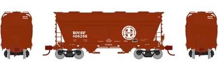 N Scale - Athearn - 23443 - Covered Hopper, 2-Bay, ACF Centerflow - Burlington Northern Santa Fe - 406266