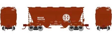 N Scale - Athearn - 23442 - Covered Hopper, 2-Bay, ACF Centerflow - Burlington Northern Santa Fe - 406200