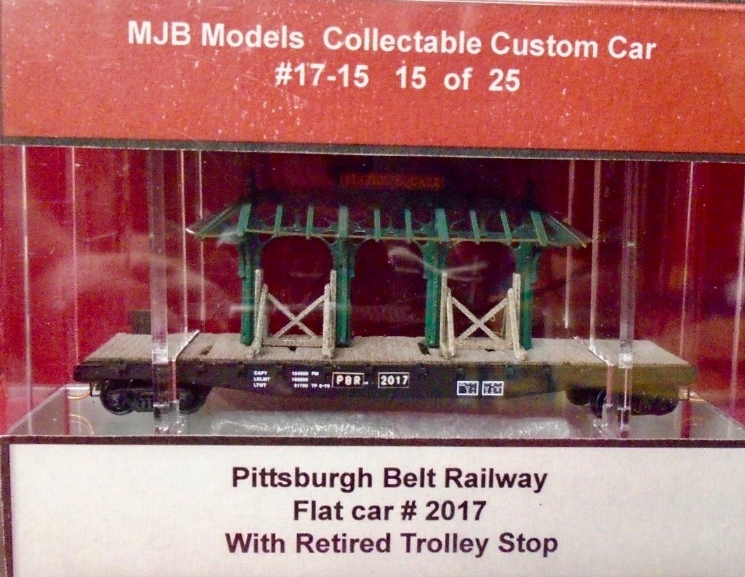 N Scale - MJB Models - 17-15 - Flatcar, 50 Foot - Pittsburgh Railways - 2017