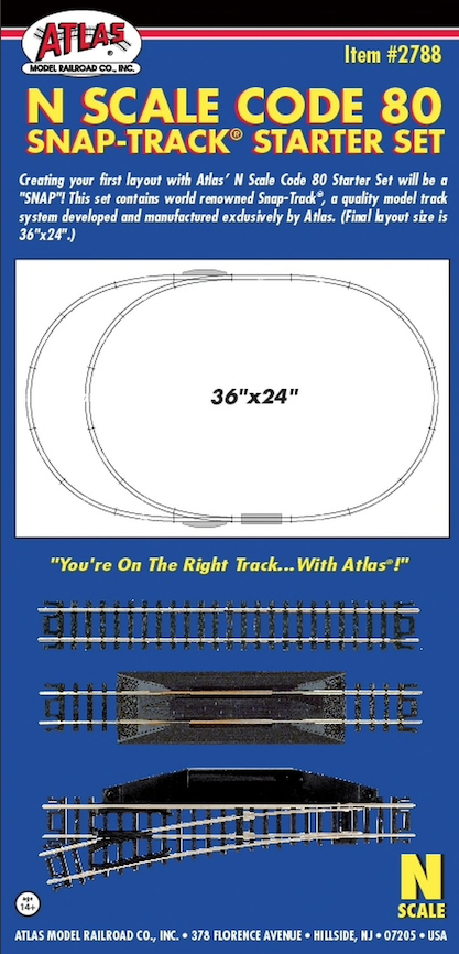 N Scale - Atlas - 2788 - Track, Code 80 Starter Set - Track, N Scale