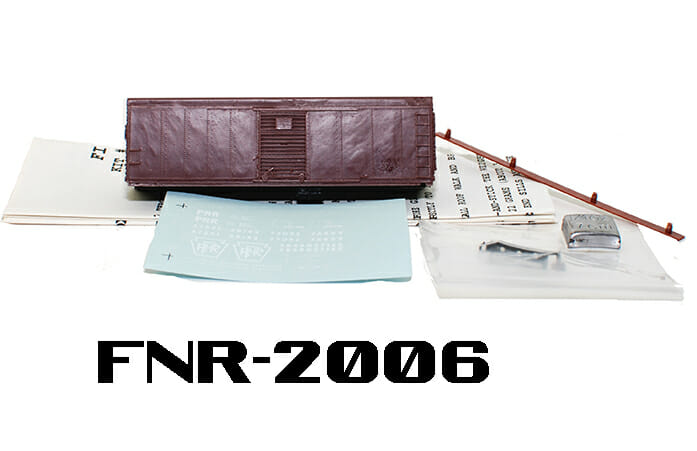 N Scale - Fine N-Scale Products - FNR-2006 - 40ft Boxcar: PRR X-31A Round Roof - Undecorated - undecorated