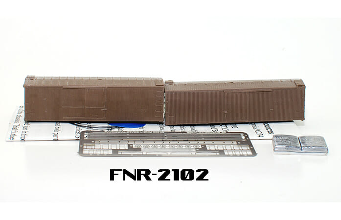 N Scale - Fine N-Scale Products - FNR-2102 - 36ft Truss Rod Wood Boxcar - Undecorated - undecorated