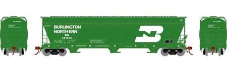 N Scale - Athearn - 12918 - Covered Hopper, 3-Bay, ACF 4600 - Burlington Northern - 481265