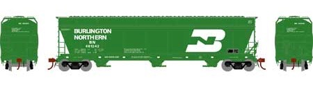 N Scale - Athearn - 12917 - Covered Hopper, 3-Bay, ACF 4600 - Burlington Northern - 481242