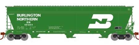 N Scale - Athearn - 12916 - Covered Hopper, 3-Bay, ACF 4600 - Burlington Northern - 481201