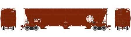 N Scale - Athearn - 6966 - Covered Hopper, 3-Bay, ACF 4600 - Burlington Northern Santa Fe - 422913