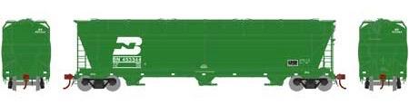 N Scale - Athearn - 6963 - Covered Hopper, 3-Bay, ACF 4600 - Burlington Northern - 453344