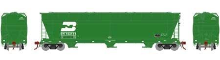 N Scale - Athearn - 6962 - Covered Hopper, 3-Bay, ACF 4600 - Burlington Northern - 453184