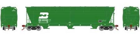 N Scale - Athearn - 6964 - Covered Hopper, 3-Bay, ACF 4600 - Burlington Northern - 453402